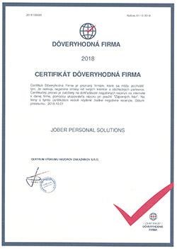 Certifikat - Jober